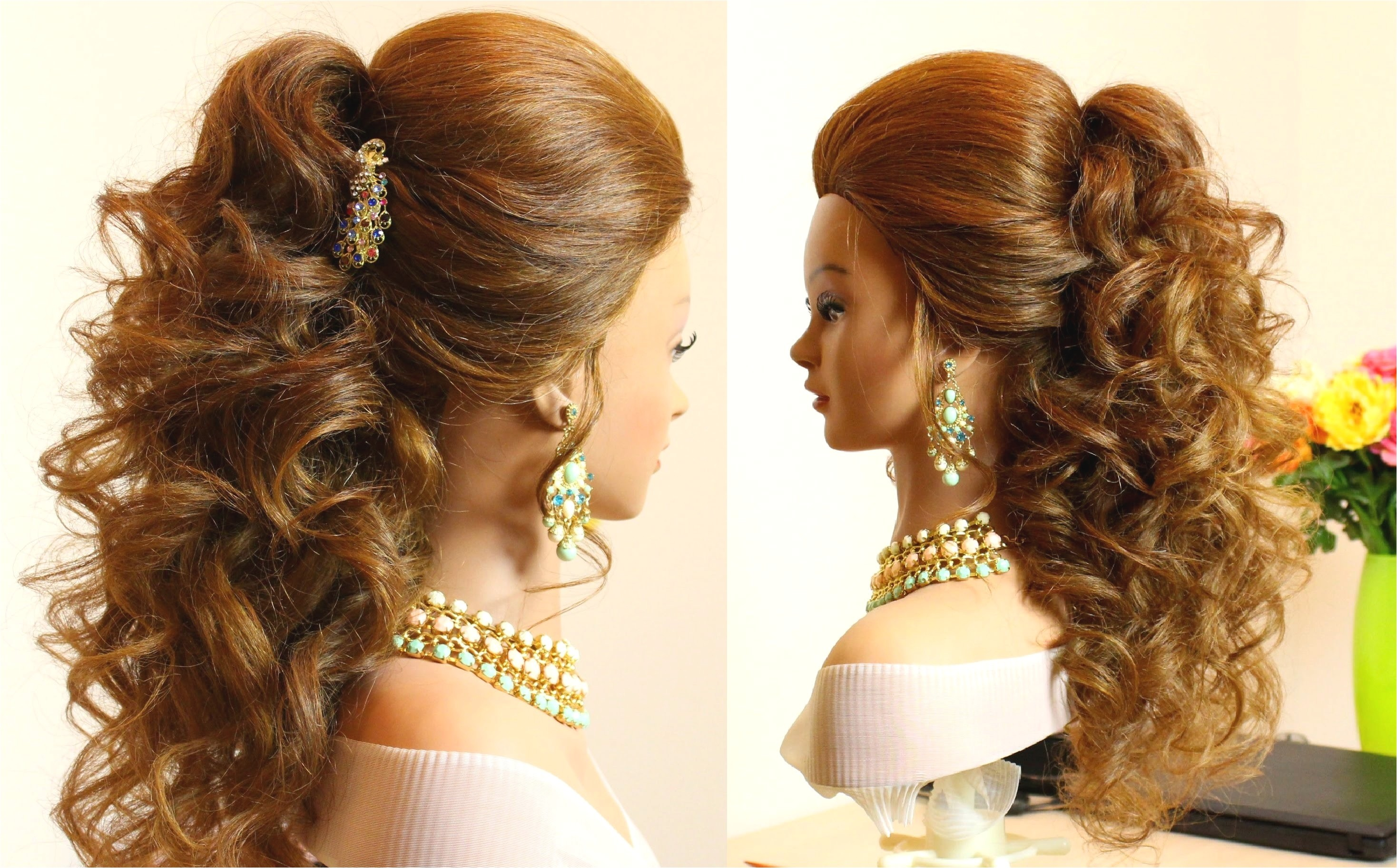 easy bridal prom hairstyles for long hair