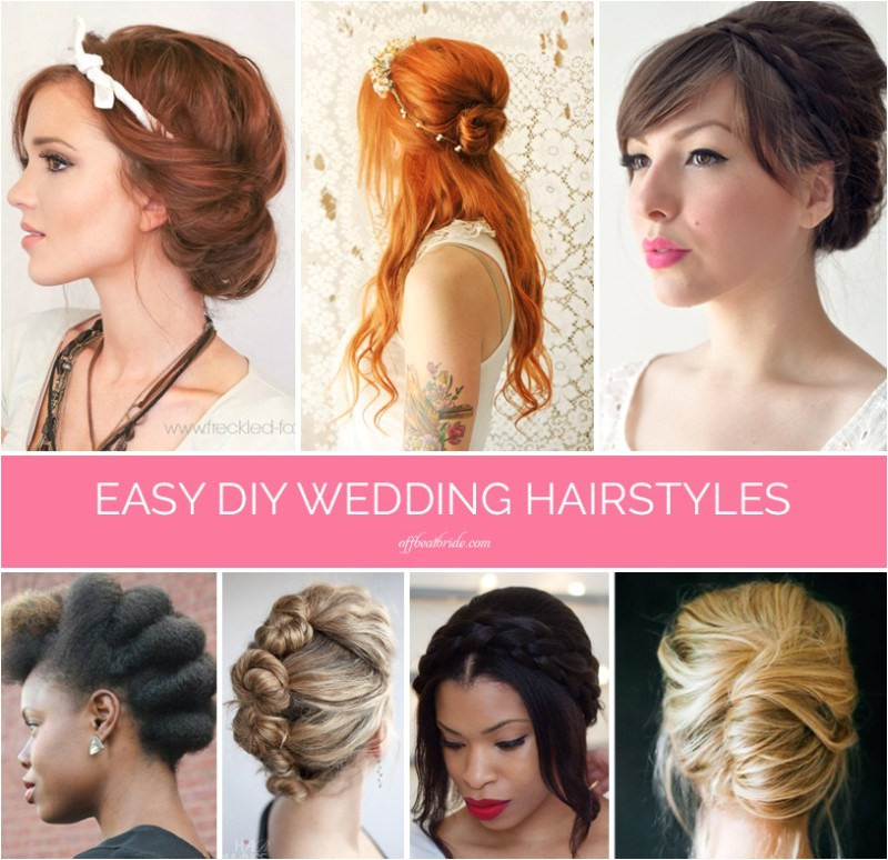 easy diy wedding hairstyles