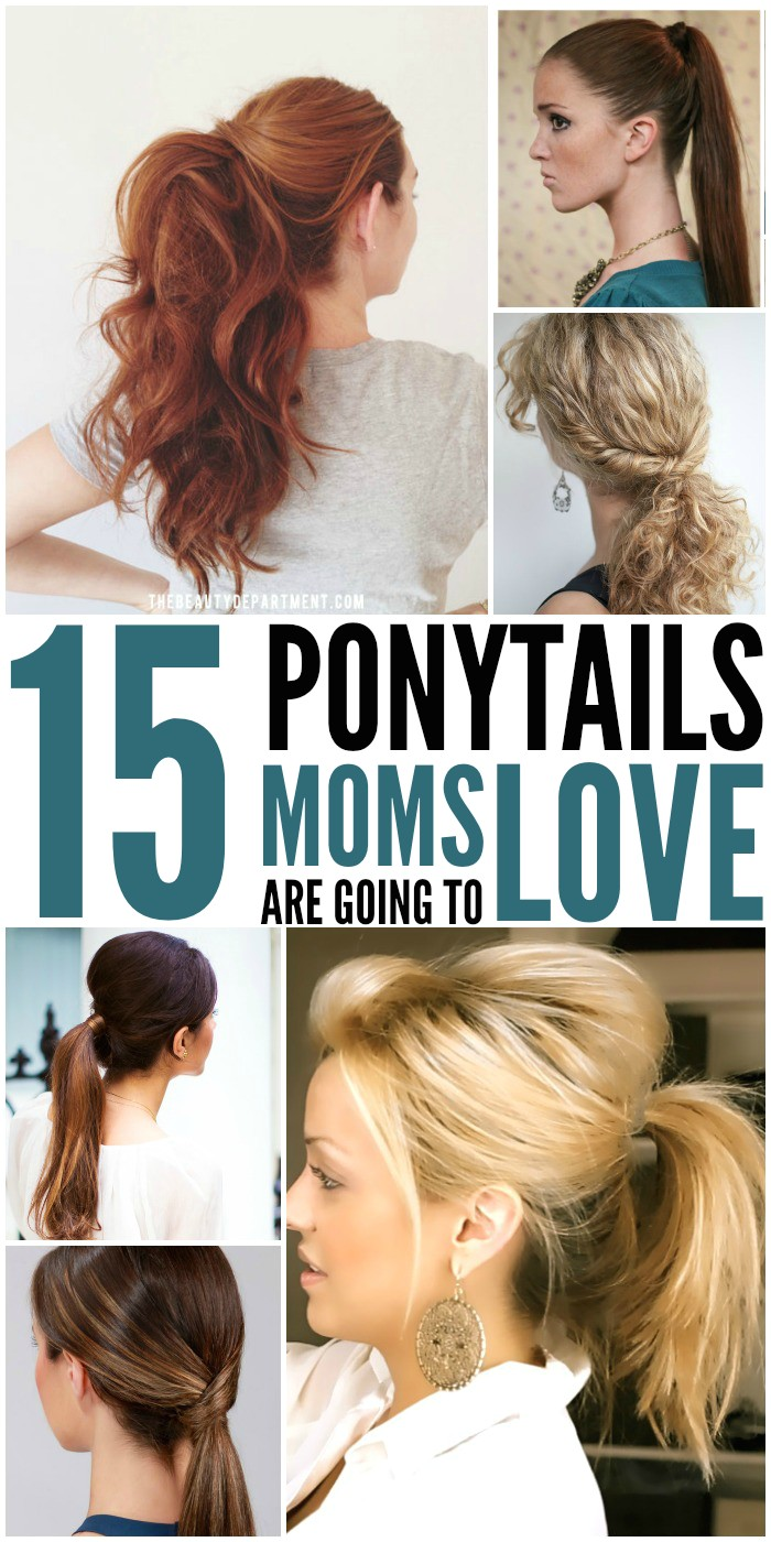 15 cute quick ponytails for mom
