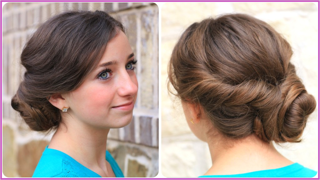 how to make easy twist updo prom hairstyle
