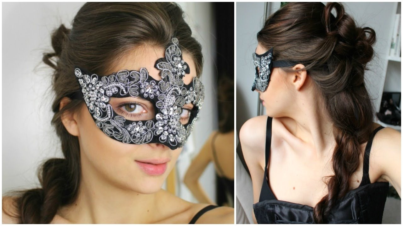 easy masquerade hairstyles