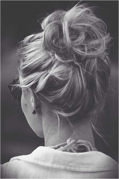 Easy Messy Bun Hairstyles for Long Hair Best Hair Updos for Medium Length Hair
