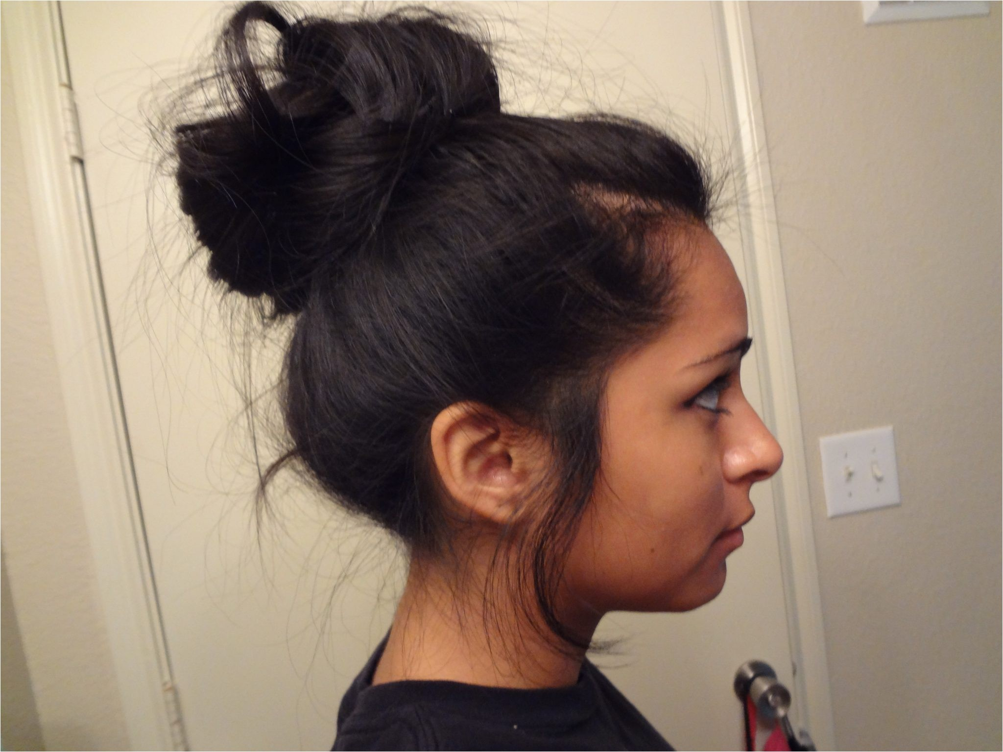easy messy bun hairstyles for long hair
