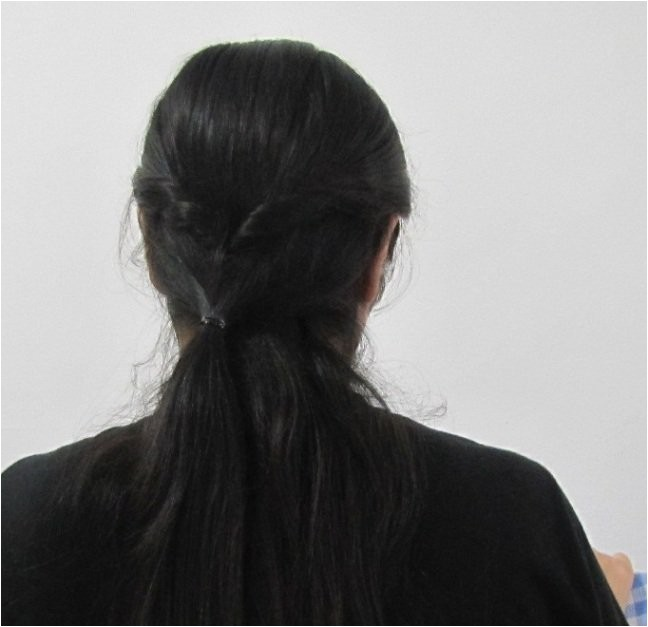 easy collegeoffice hairstyle for medium to long hair
