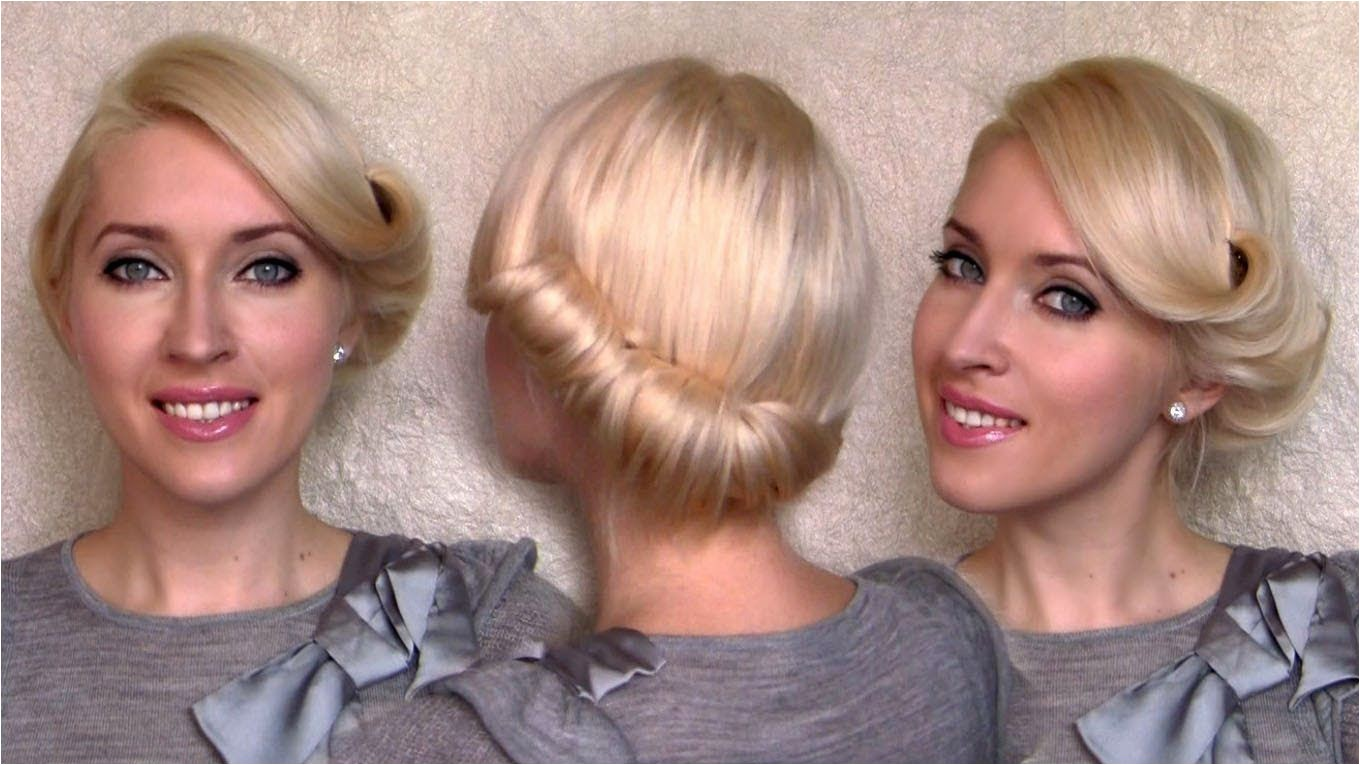 old fashioned updo hairstyles