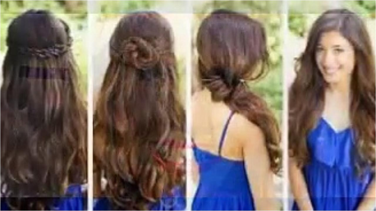 easy party hairstyles for straight hair