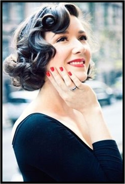 cute pin up hairstyle for medium length hair