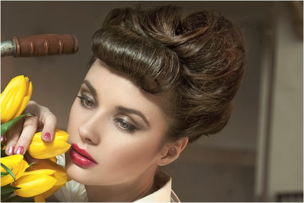easy pin up hairstyles with bangs