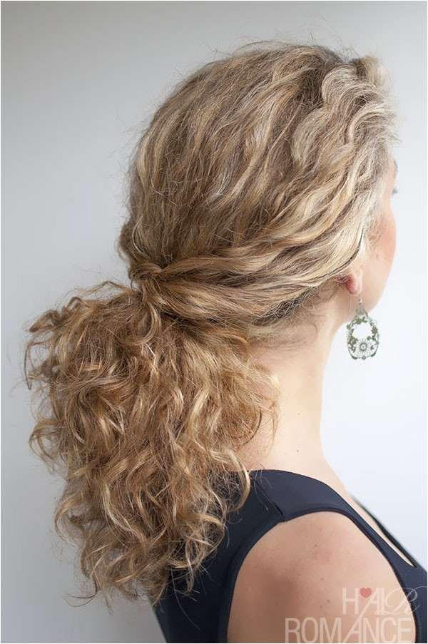 curly hairstyle tutorial twist over ponytail