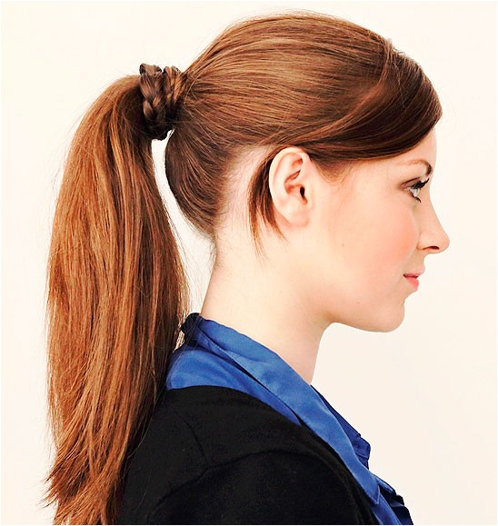 best hairstyles for medium length hair with ponytail