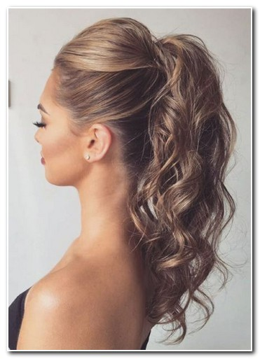 cute ponytail hairstyles for medium length hair