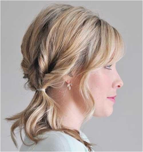 cute ponytails for short hair pinterest