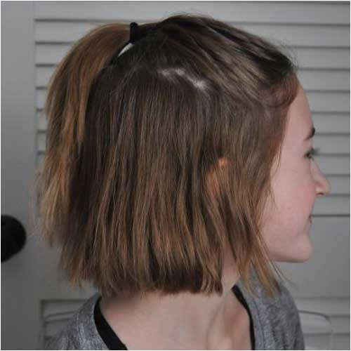 easy ponytail styles for short hair you will love