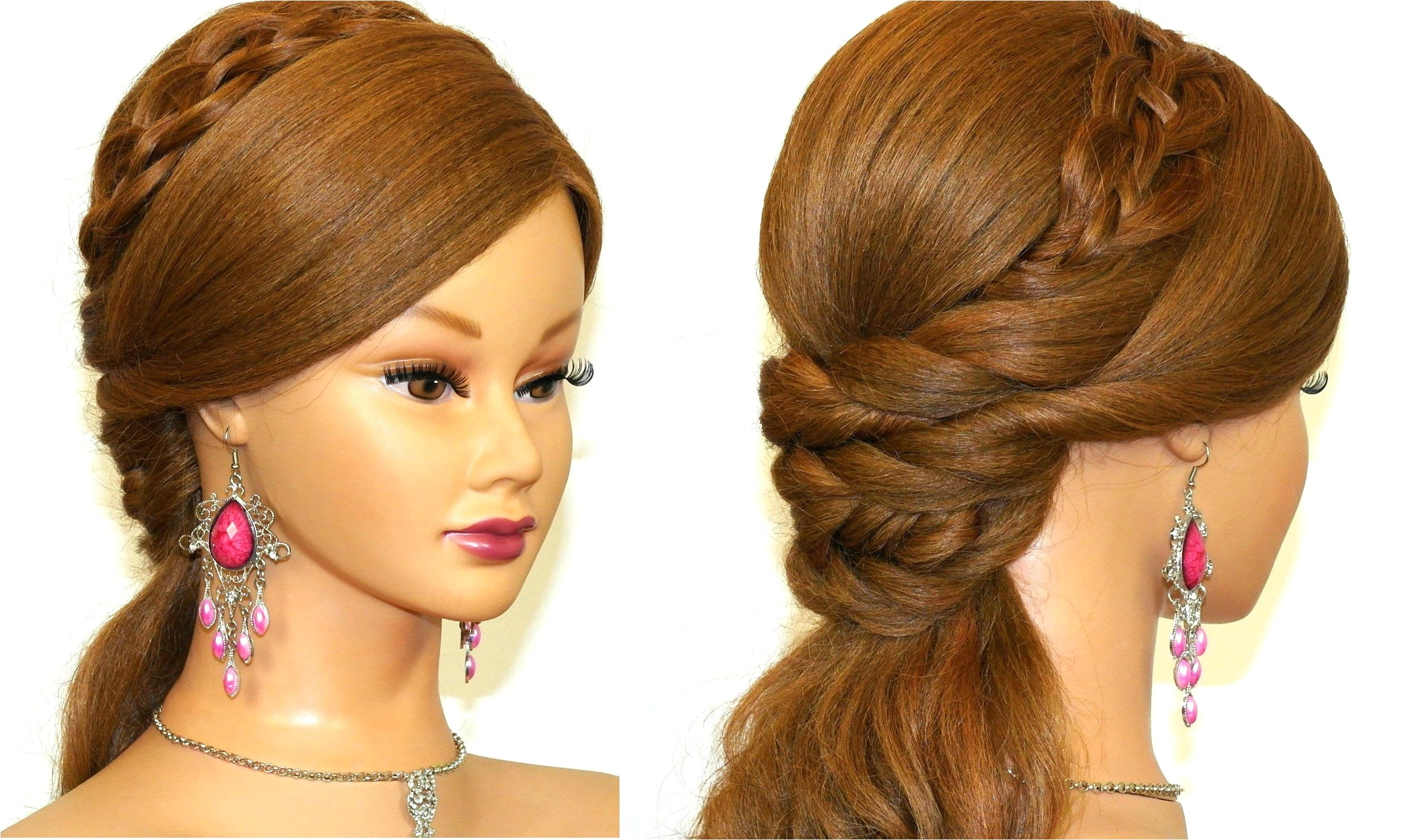 easy prom hairstyles for long hair to do at home