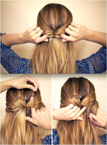 easy bow hairstyles