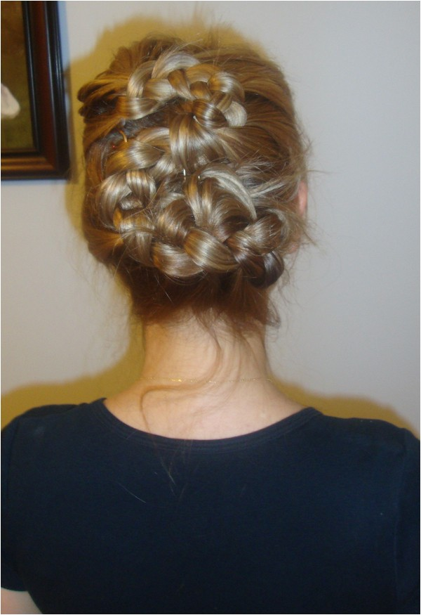 beauty hair style romantic feminine updo