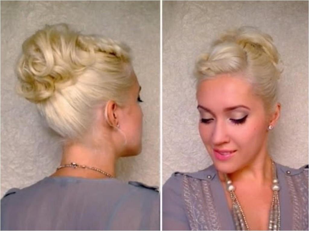 easy updos for medium length layered hair