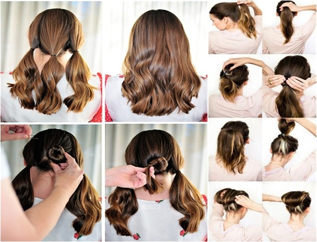 easy to make hairstyle at home