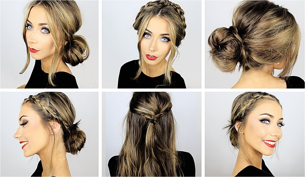 easy quick hairstyles for school