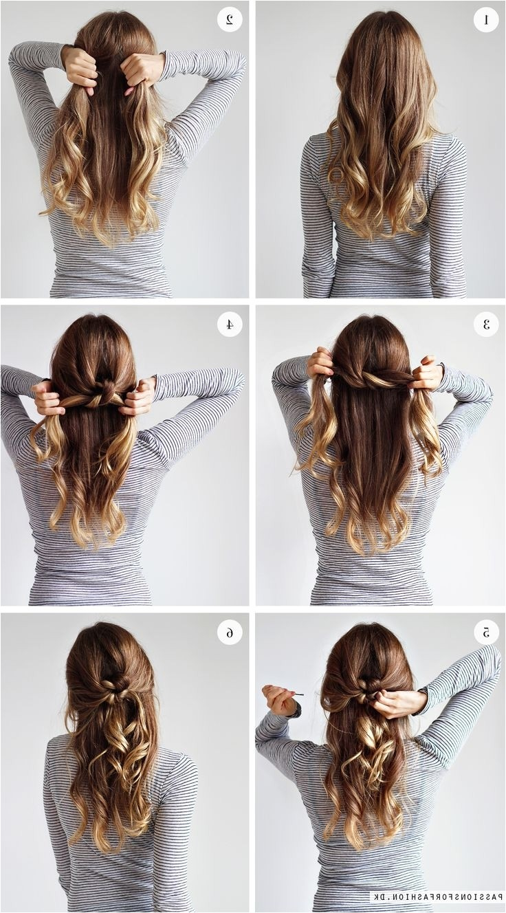 simple tied up hairstyles