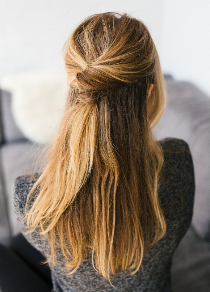 simple hairstyles half up