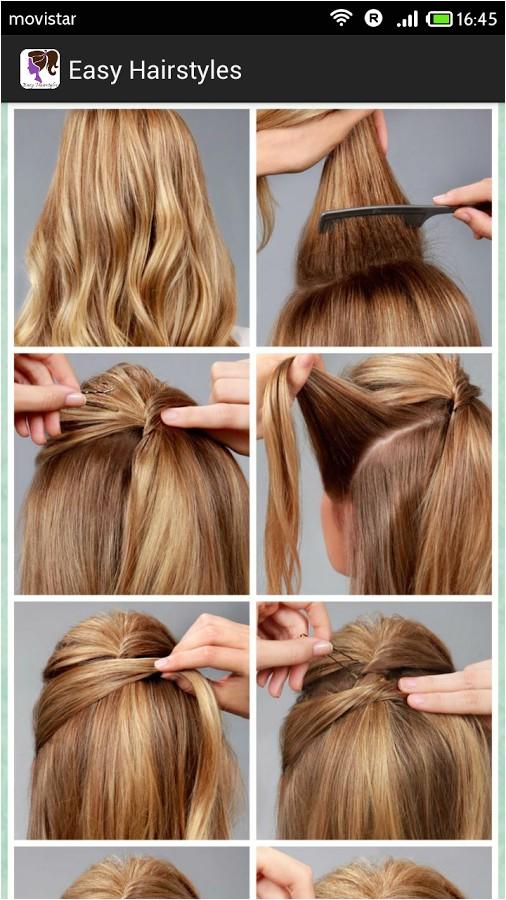 simple diy braided bun puff hairstyles pictorial tutorial for girls