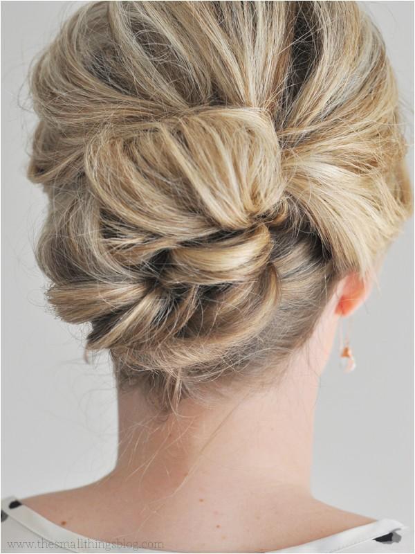 5 easy updos medium hair