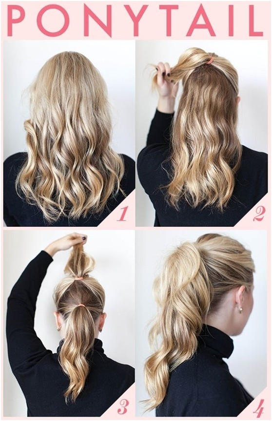 15 cute easy ponytail hairstyles tutorials