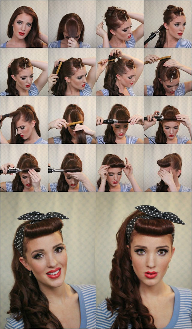 17 ways make vintage hairstyles