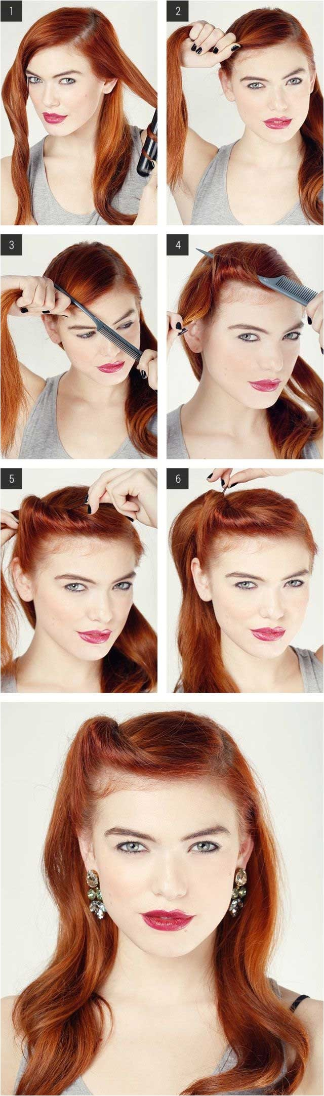 easy retro hair tutorial