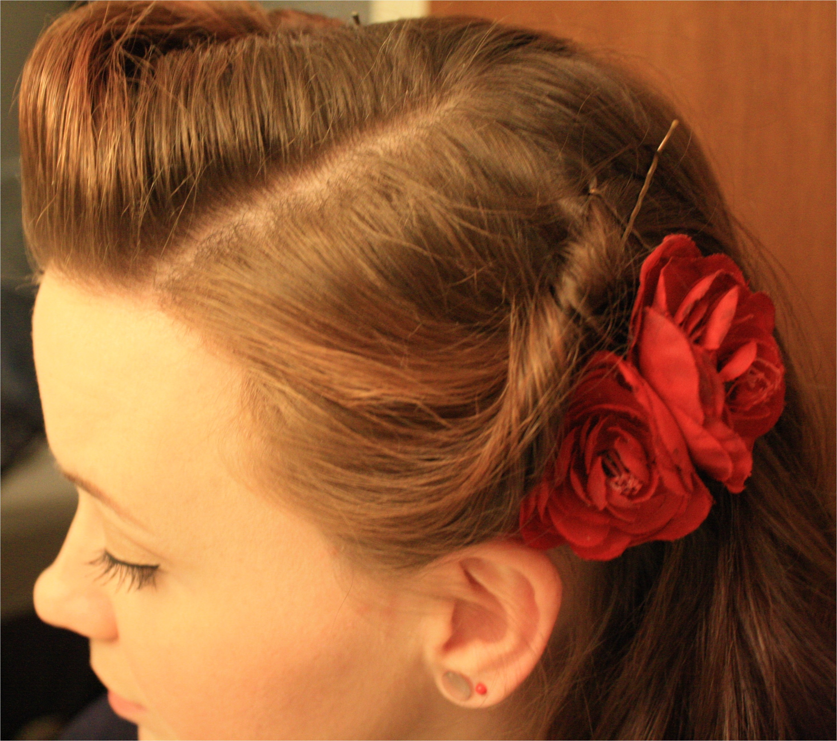 quick and easy retro hairstyle