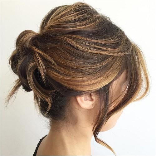 20 tren st updos for medium length hair