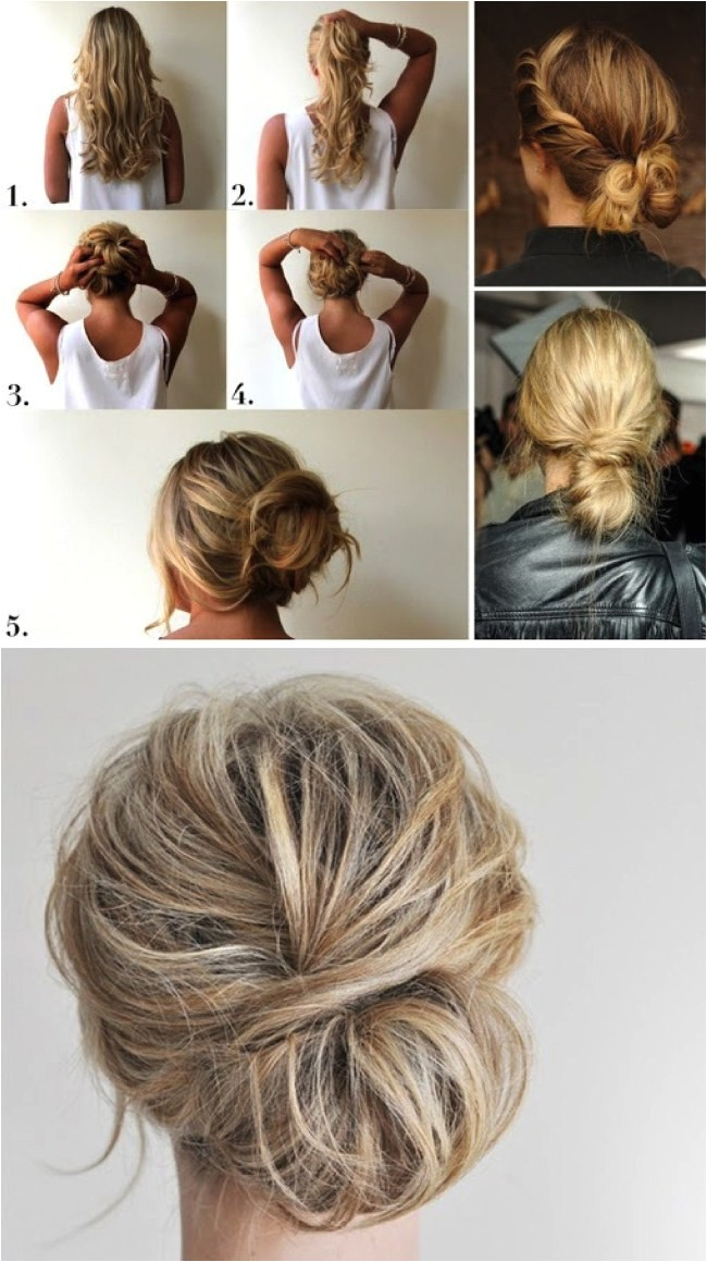 easy updos for long hair step by step to do at home in english