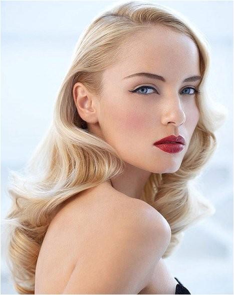 easy wavy vintage hairstyles for blonde long hair