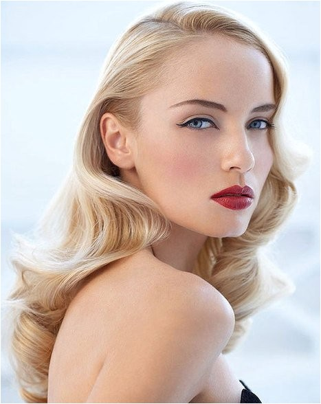 easy wavy vintage hairstyles for blonde long hair