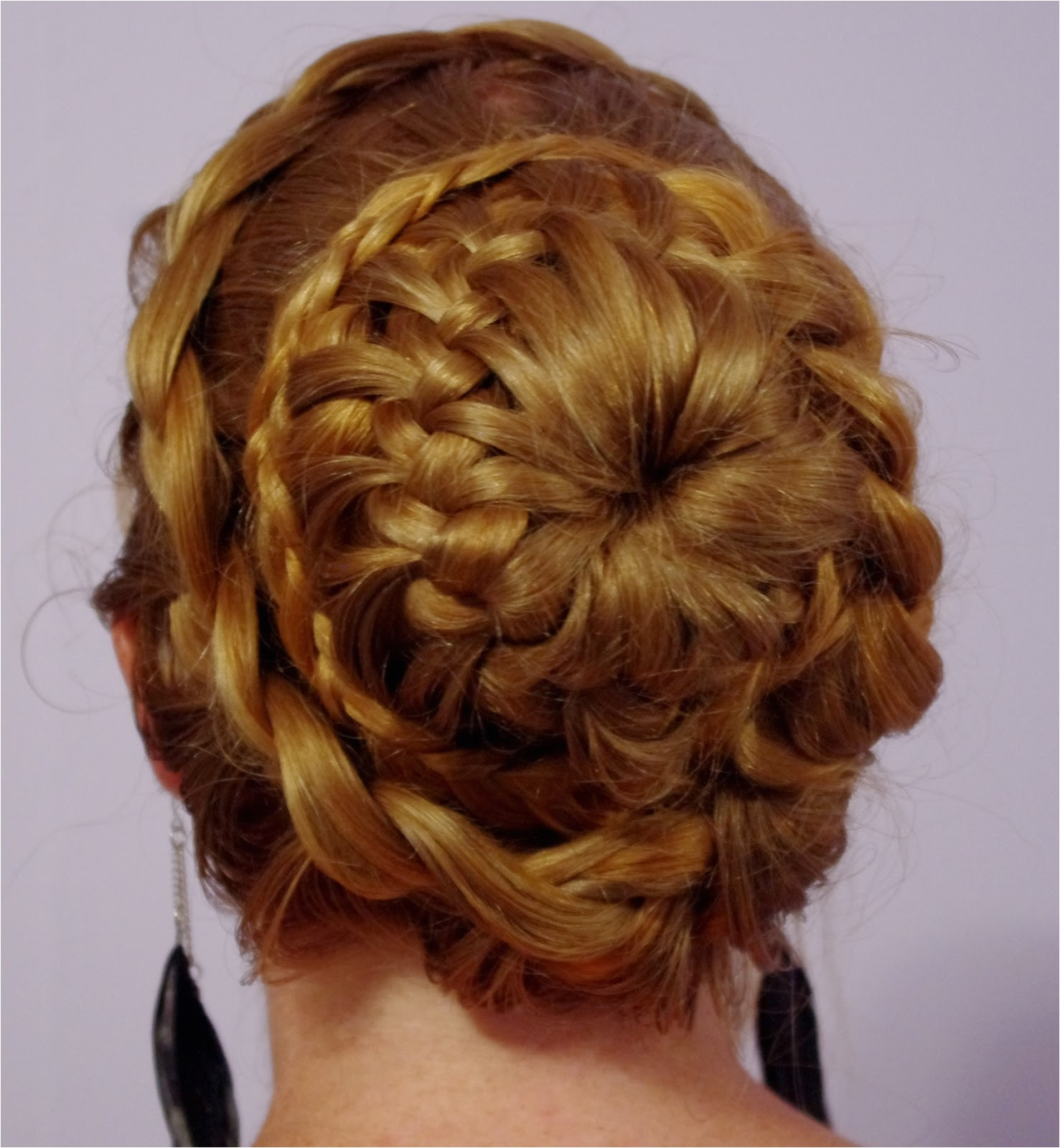 fancy braided bun