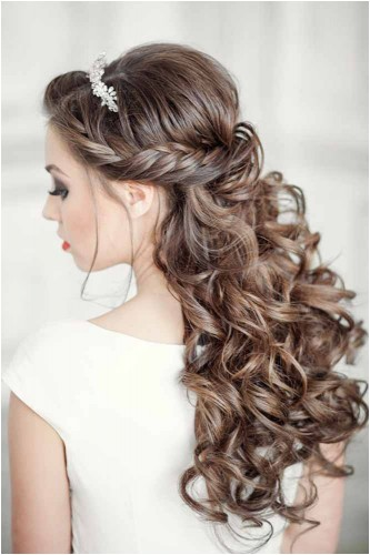 elegant wedding hairstyles half up half down