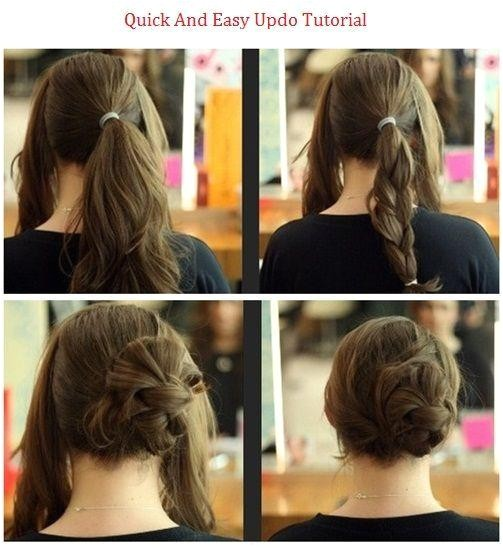 top photo of quick easy updo hairstyles