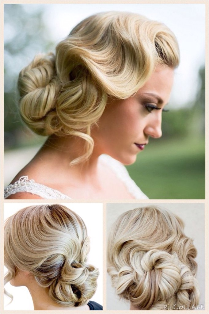 finger wave updo hairstyles