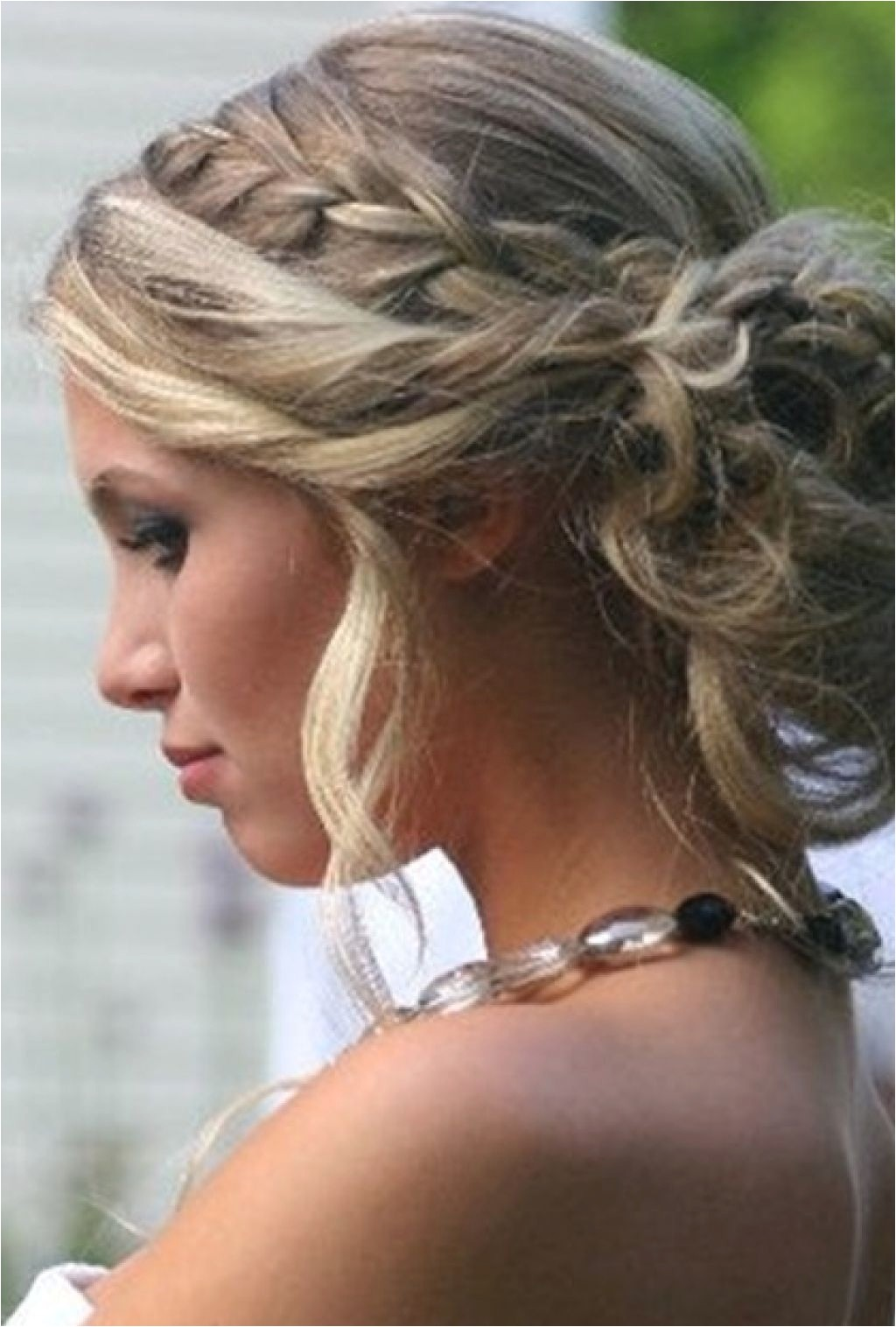wedding hair updos with plaits