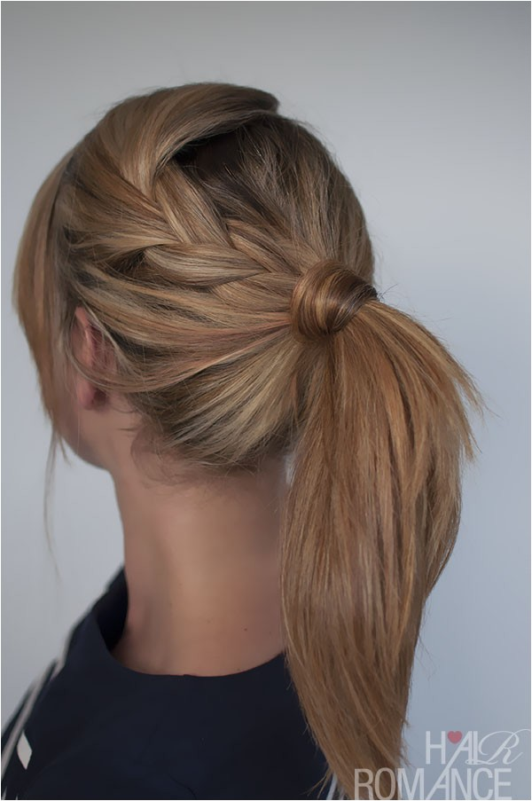 easy braided ponytail hairstyle how to