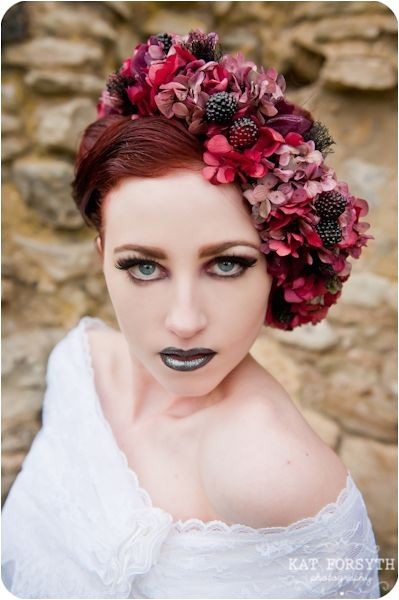 Gothic Wedding Hairstyles 164 Best Floral Garlands Images On Pinterest