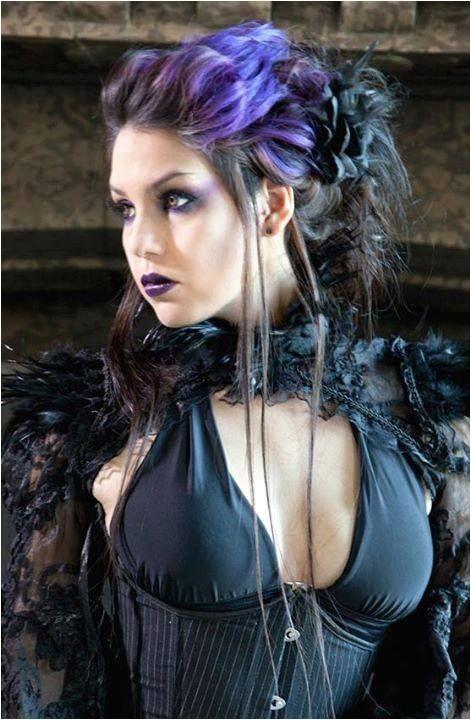 gothic steampunk hair styles