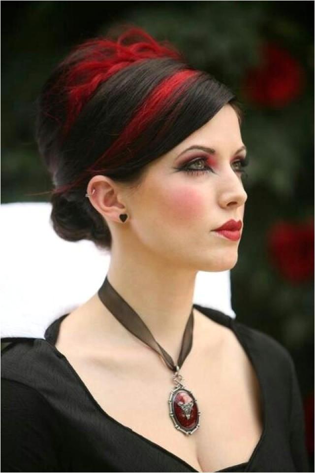 Gothic Wedding Hairstyles Gothic Wedding Red and Black Hair Weddbook