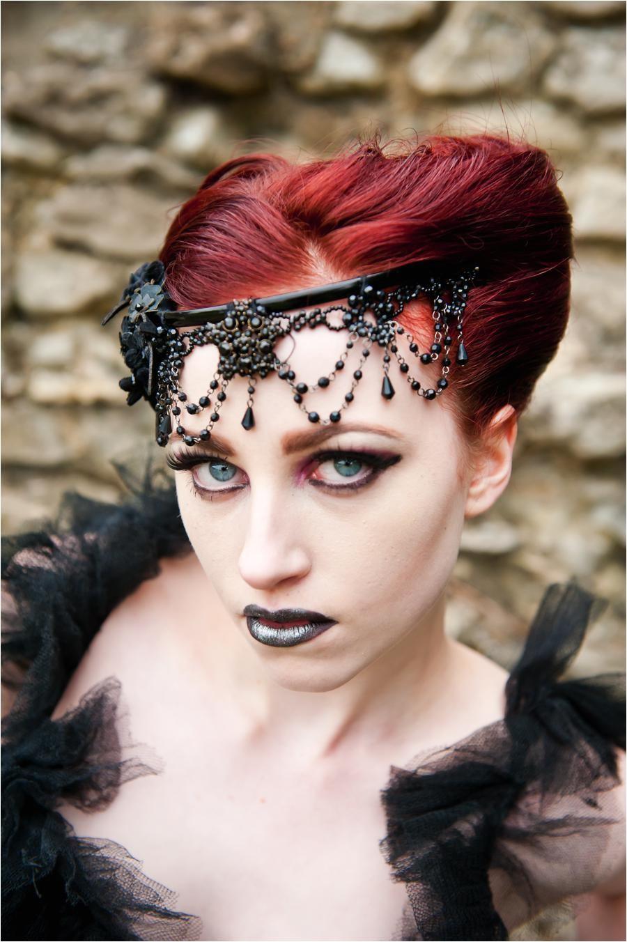 Gothic Wedding Hairstyles Victorian Gothic Wedding