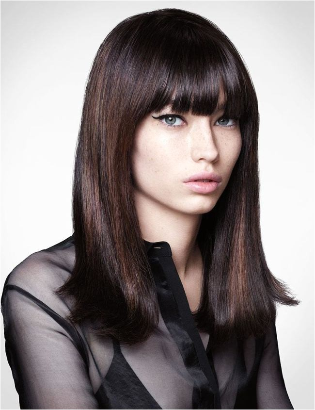 easy to do party hairstyles for long black hair with bangs