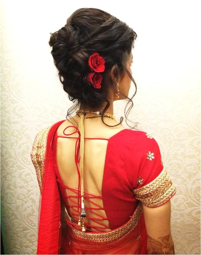 indian bridal wedding hairstyles for short and medium hair