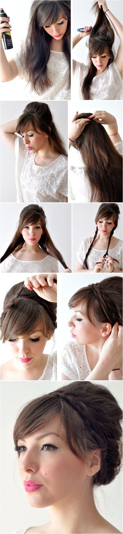 Hairstyles Easy to Make at Home Creative Hairstyles that You Can Easily Do at Home 27
