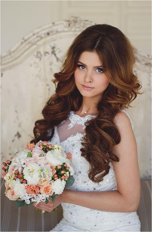 stylish bridal wedding hairstyle 2014