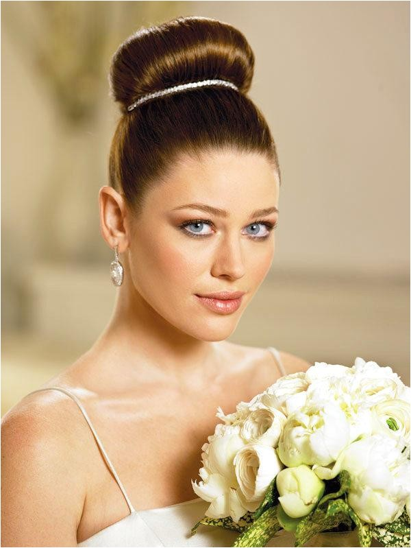 wedding day bridal medium hairstyles 2013